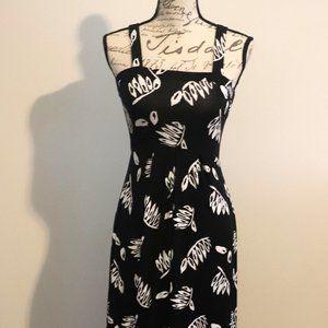 ANN TAYLOR LOFT TROPICAL PRINT MAXI DRESS NWT XS P